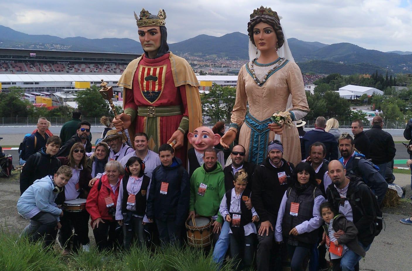 Els Gegants de Pineda, al Gran Premi de F1 del Circuit de Catalunya
